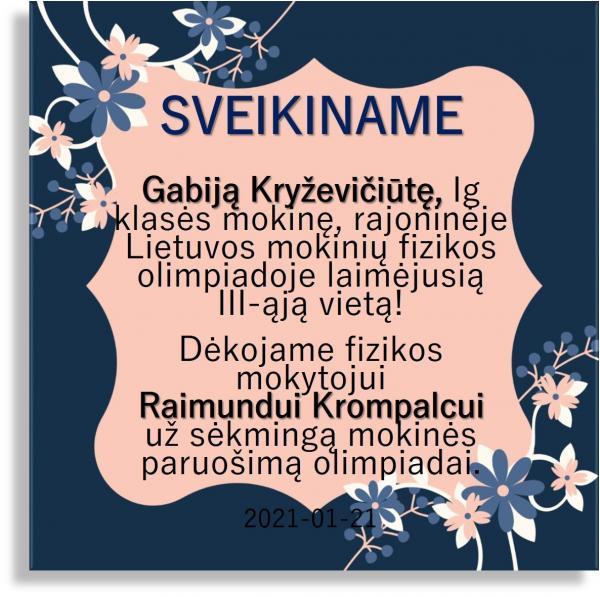 Gabija Kryževičiūtė III v 2021 01 21